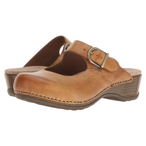 (ダンスコ)Dansko レディースクロッグズ・ミュール・スライド・靴 Martina Honey Distressed US Women's 7.5-8 24-24.5cm Wide [並行輸入品]
