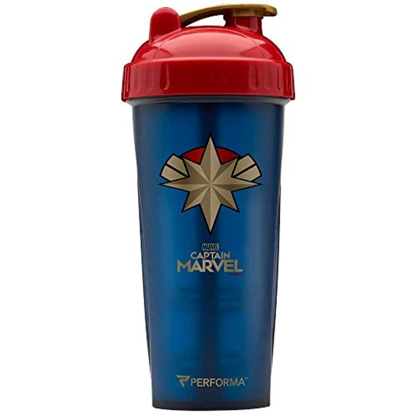 教授美容師詐欺Performa PerfectShaker Marvel series Captain Marvel パフォーマ パーフェクトシェイカー マーベルシリーズ キャプテン マーベル 28 oz (800 ml)