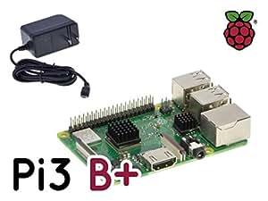 【国内正規代理店版】Raspberry Pi 3 Model B+ Base Kit V1 (本体/5V3A電源/ヒートシンク)【RS】