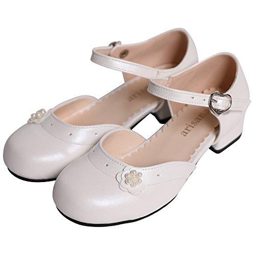 de3a77d9d8f8b  アリサナ  フォーマルシューズ 女の子 キッズ ドレス シューズ ピアノ 発表会 子供 靴 ジュスティーヌ パールホワイト 23cm  日本人のお子様ならではの足の形状や、 ...