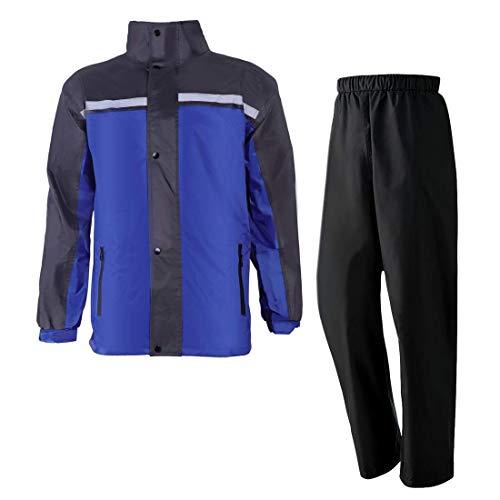 ロゴス(LOGOS) MEN'Sストレッチレインスーツ ブルー XL 36709151