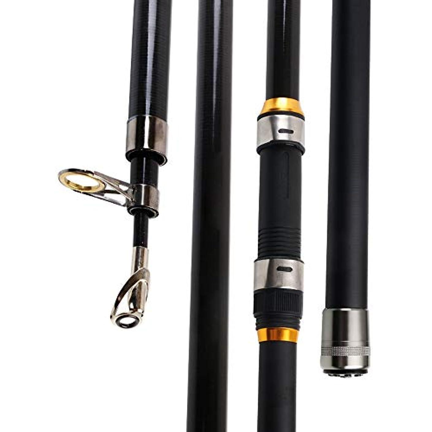 キャンベラ国勢調査横HYBJP 釣り竿 釣りロッド 携帯型 伸縮ロッド 初心者 コンパクト 釣り具 フィッシングロッド アウトドア (Color : ブラック, Size : 2.7)