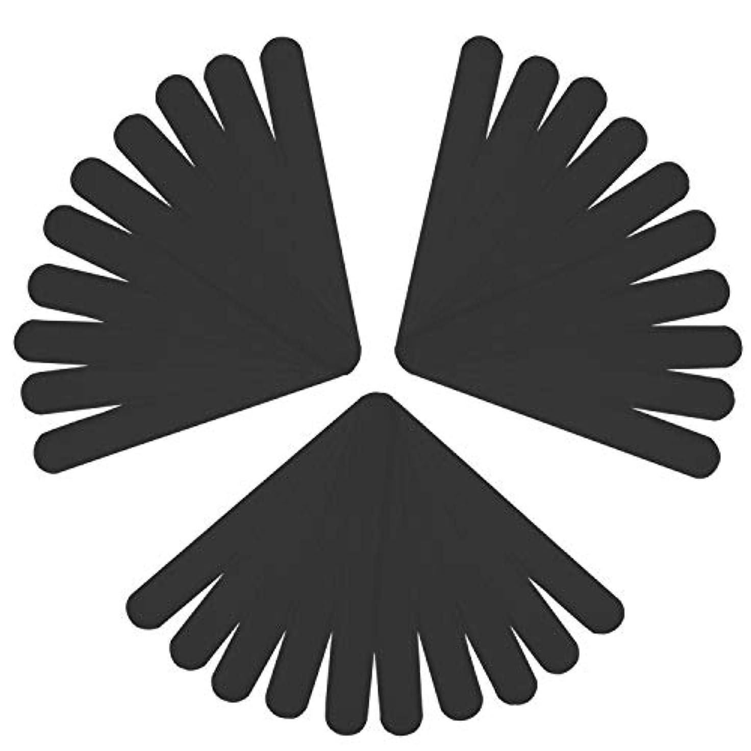 LUCKYBEE汗取りシート 30本入り 帽子 汗取りパッド 襟 よごれガードテープ 汗吸収 防臭シート 無香料 あせジミ防止 暑さ対策 ブラック (ブラック)