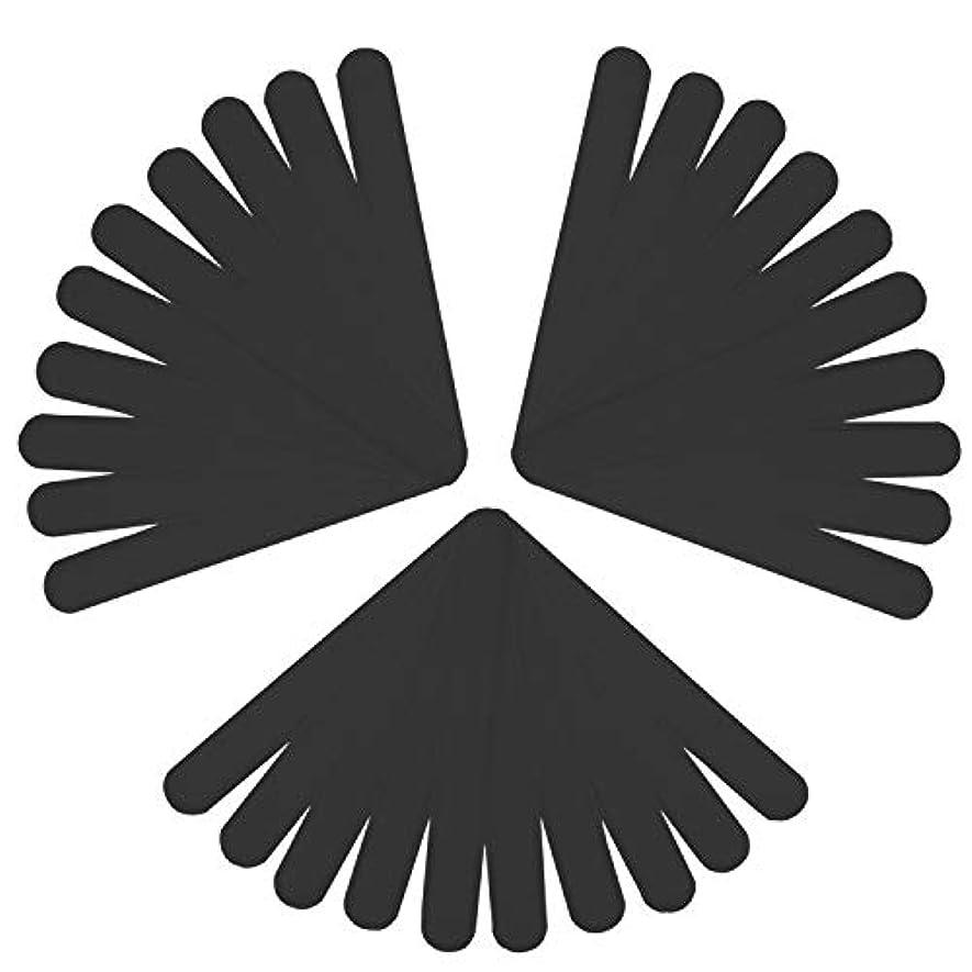 スープ黙認する救援LUCKYBEE汗取りシート 30本入り 帽子 汗取りパッド 襟 よごれガードテープ 汗吸収 防臭シート 無香料 あせジミ防止 暑さ対策 ブラック (ブラック)