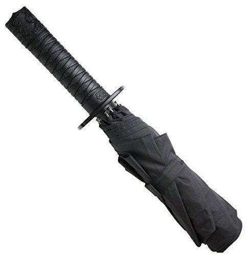 1stモール 忍者刀傘 折り畳み式 自動オープン スイッチ搭載 3段 日傘 ...