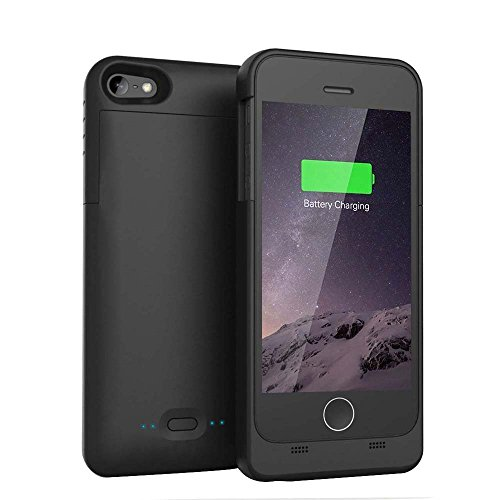 バッテリーケース [COOLEAD] Apple認証 (Made for iPhone取得) Maxnon iPhone5 /5s 用 2200mAh 緊急充電 急速充電 スリム バッテリー内蔵 モバイルバッテリーケース ブラック