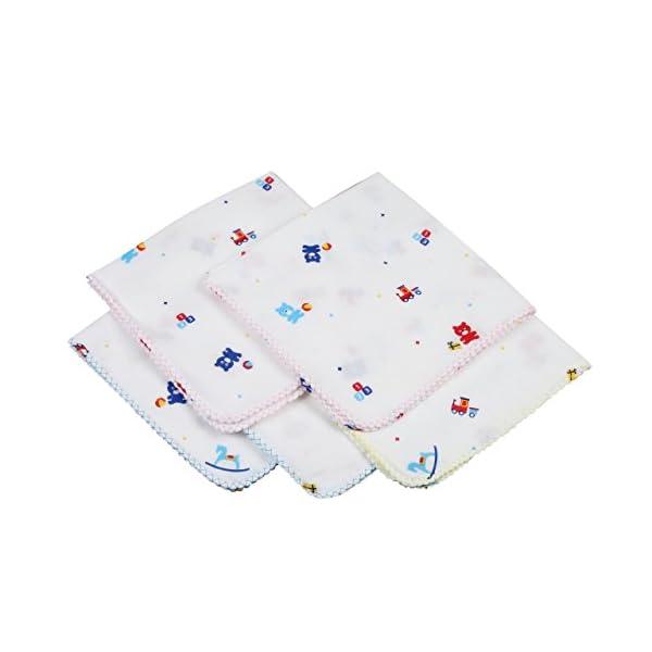 イサム商会 日本製ガーゼハンカチ おもちゃ柄 5枚入の商品画像