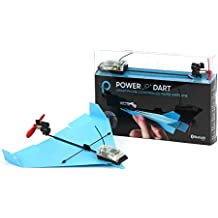 POWERUP Dart Aerobatic Smartphone Controlled Paper Airplane, Blue