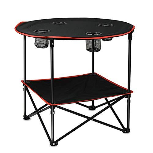 Ephram 「2019最新」 折り畳みテーブル アウトドアテーブル 丸いデスク2.5kgと軽量 耐荷重45 kg 二層の設計 組立工具不要 展開サイズ約72**60cm 四箇所ポケット付け アルミ製品 オックスフォード天板 高耐久性 キャンプテーブル コンパクト キャンプ用品 アウトドア ハイキング BBQ 収納ケースつき