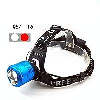 屋外の強いヘッドライト二重光源釣り灯充電集束明るい光LEDランプヘッドライト懐中電灯、シングルヘッドライト (色 : B)