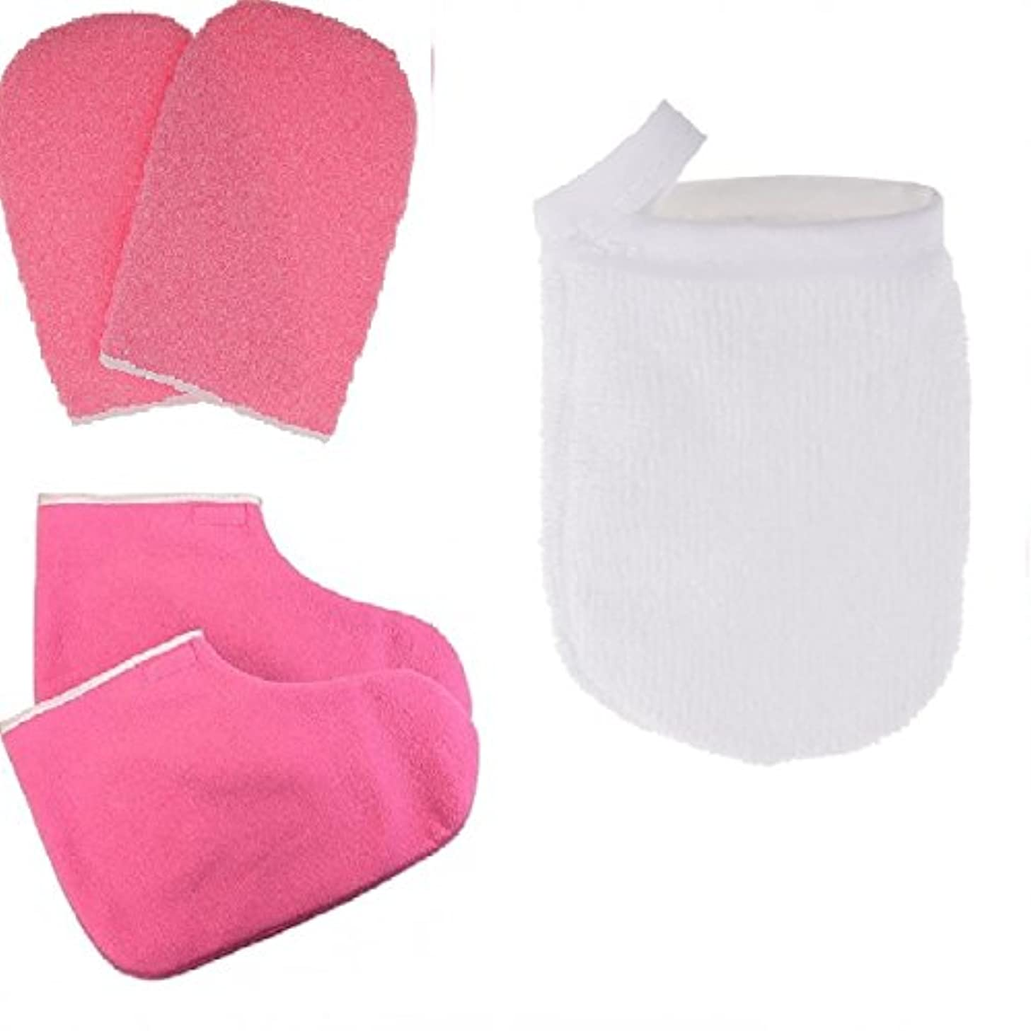 すぐに南舌Fenteer パラフィンワックス手袋 グローブ 保護手袋 クレンジンググローブ メイクリムーバー パッド