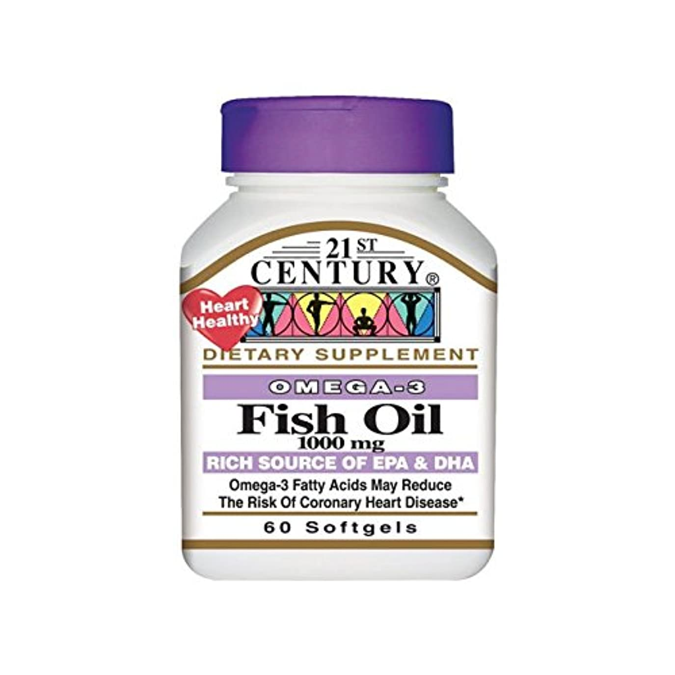 提供された言い直す虫を数える21st Century Health Care, Fish Oil, 1000 mg, 60 Softgels