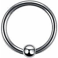 ボディピアス 10G ボディーピアス チタン キャプティブ ビーズ リング CBR 輪っか フープ (内径xボールサイズ)24x6mm バラ売り プレゼント 耳 人気