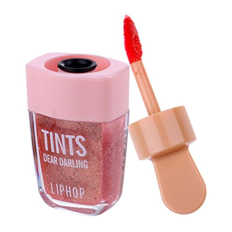 最小エンコミウムセンチメンタル口紅 リップグロス 長時間持続 リップウォーター メークアップ 6色選べる - マーメイドカラー