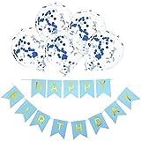 LilyAngel 12インチゴールデン紙吹雪風船誕生日風船ホワイトハッピーバースデーバナープル花誕生日パーティーの衣装。 (色 : A012)
