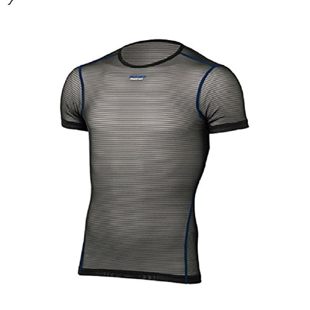 修復詐欺ワイドファイントラック finetrack Men's パワーメッシュ Tシャツ FUM0812 (BK)