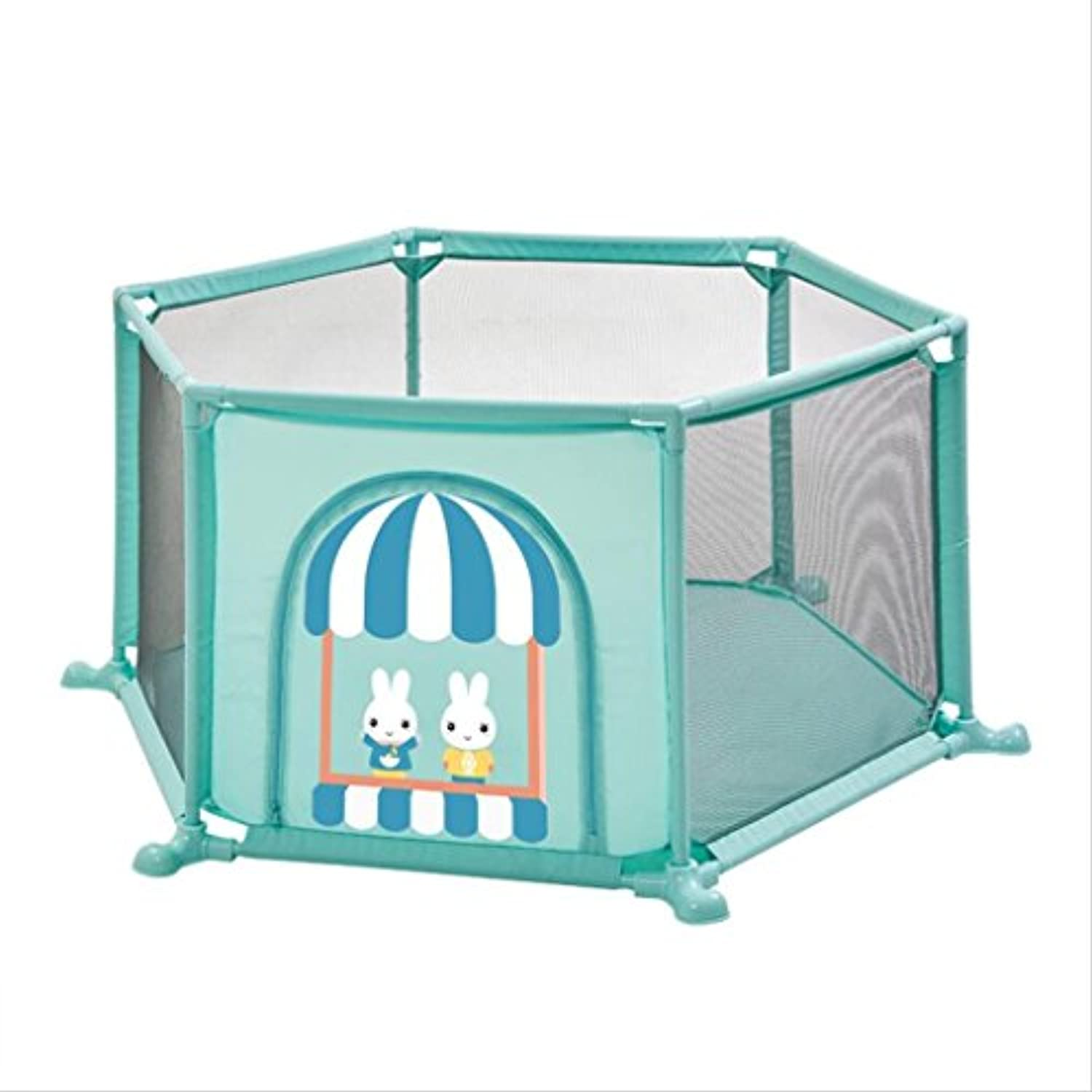 Play YardホームPlayfence Playpens for Playtmat Playmat Baby Playpence Baby Playpens Playpens for Baby (Color : Blue, Size : 160 * 67cm)