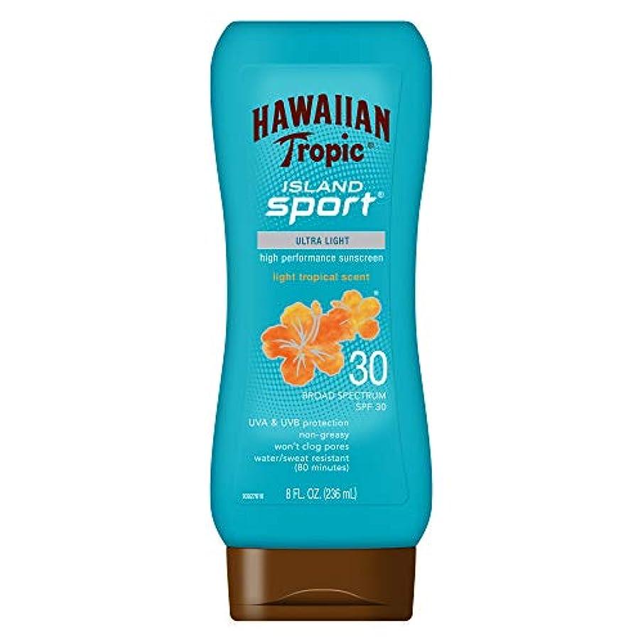 チューインガム素子聞くHawaiian Tropic アイランドスポーツウルトラライト高性能Suncreenローション、ライト熱帯香りSPF 30 8オンス