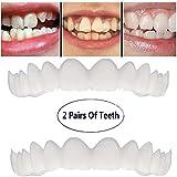 歯を白くする歯の2組は、柔軟な歯突き板+下括弧のために快適な完璧な笑顔をカバー