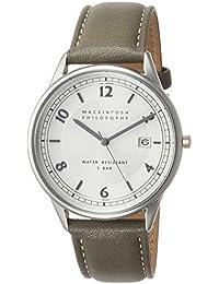 [マッキントッシュフィロソフィー]MACKINTOSH PHILOSOPHY 腕時計 MACKINTOSH PHILOSOPHY フレッシャーペア ライトスモークシルバー文字盤 グレー革バンド FCZK990 メンズ