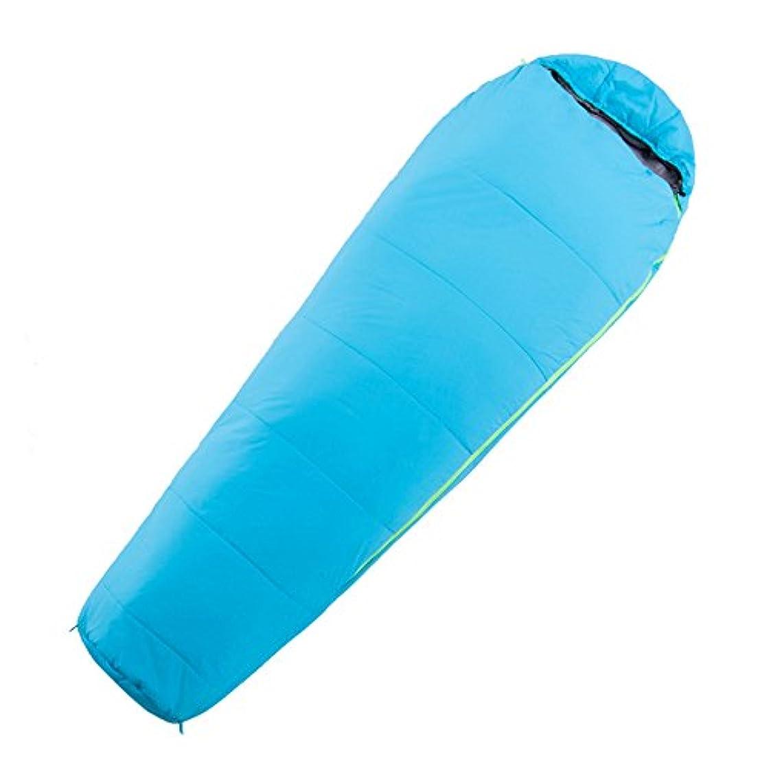 減る待つ雲LJHA shuidai ミイラスリーピングバッグ/コットン/ライトポータブル/アウトドアキャンプハイキング/4シーズンの寝袋215 * 76(35)cm (色 : Blue)