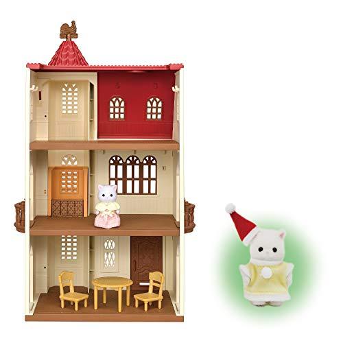 【メーカー特典あり】シルバニアファミリー 赤い屋根のエレベーターのあるお家 ハ-49 + 赤ちゃんサンタ付き