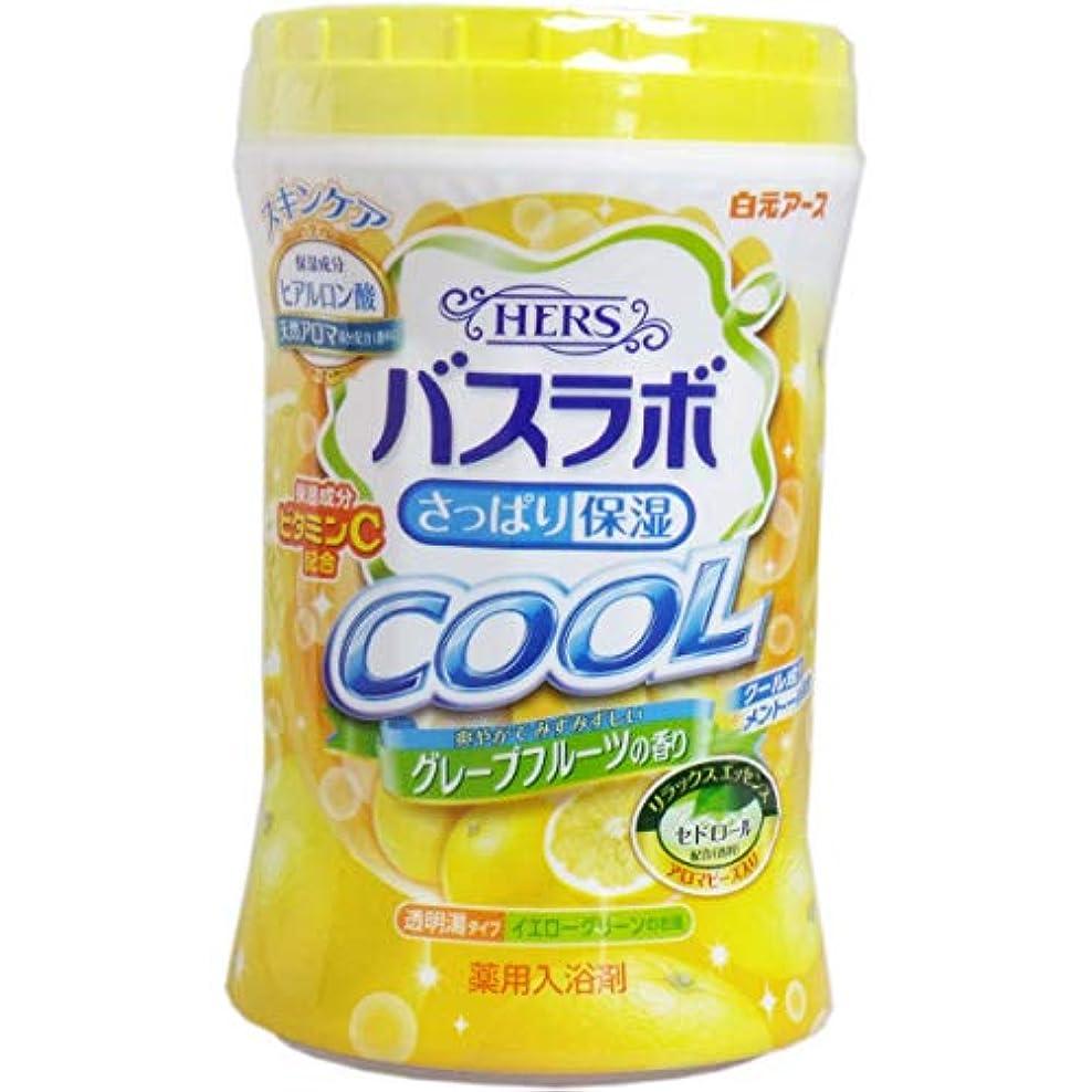 逆パニック対称HERSバスラボ ボトル クール グレープフルーツの香り 640g × 15点