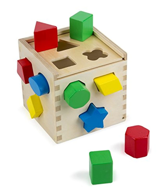 HuaQingPiJu-JP クリエイティブ12シェイプ木型シェイプキューブ木製玩具