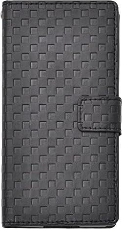 市松模様 手帳型カバー DF01H-62BK