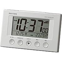 リズム時計工業(Rhythm) 目覚まし時計 電波時計 温度計・湿度計付き フィットウェーブスマート 白 77×120×54mm 8RZ166SR03