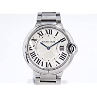 カルティエ CARTIER バロンブルー W69011Z4 シルバー文字盤 ボーイズ 腕時計 【中古】