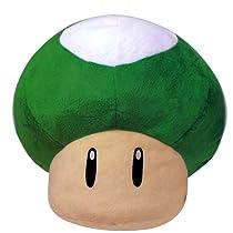 スーパーマリオ 特大サイズぬいぐるみ 1UPキノコ(緑)