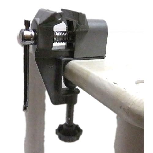 コレ 便利 卓上 用 小 型 万力 万能 まんりき 机 木 材 に 簡単 取付 で 作業 効率 が 上がります (ネジ式(小)+袋)