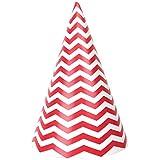 JustアーティファクトChildrens Paper Party Hats 12pcs – 円錐Chevron