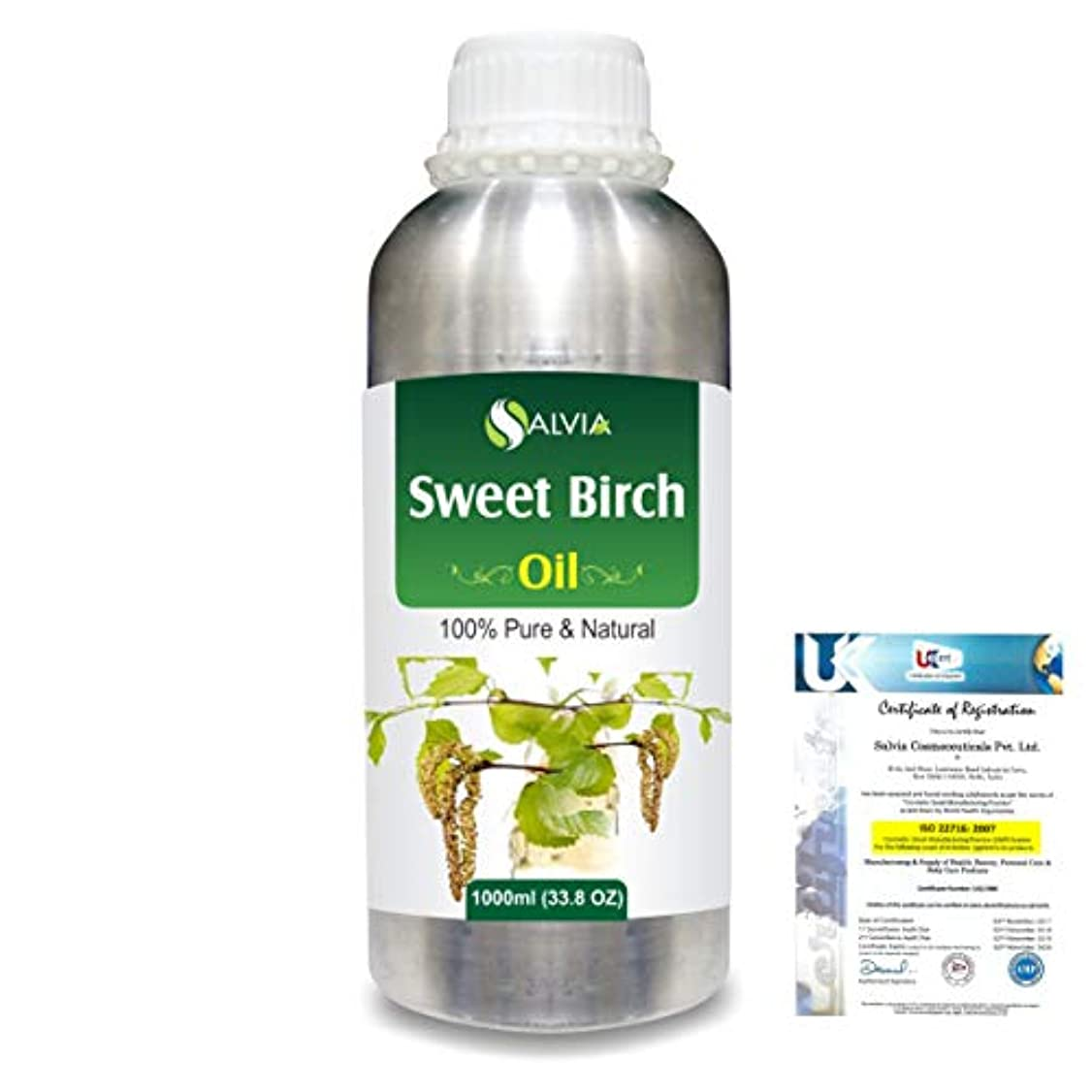 取り戻す冷凍庫排泄するSweet Birch (Betula lenta) 100% Natural Pure Essential Oil 1000ml/33.8fl.oz.