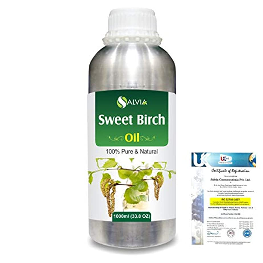 小売側面労苦Sweet Birch (Betula lenta) 100% Natural Pure Essential Oil 1000ml/33.8fl.oz.