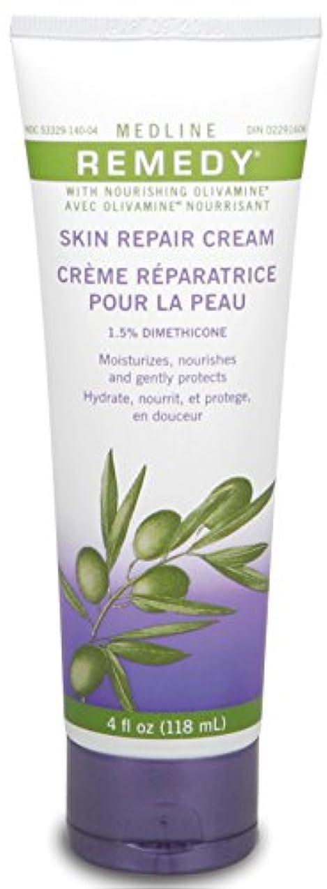 スプリット付き添い人心臓Medline Remedy with Olivamine Skin Repair Cream 4oz 118ml