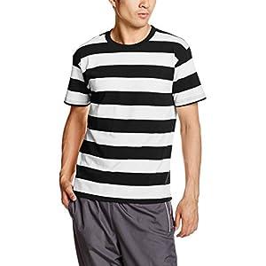 (ユナイテッドアスレ) UnitedAthle 5.0オンス ボールドボーダー 半袖Tシャツ 551801 [メンズ] 2001 ブラック/ホワイト L