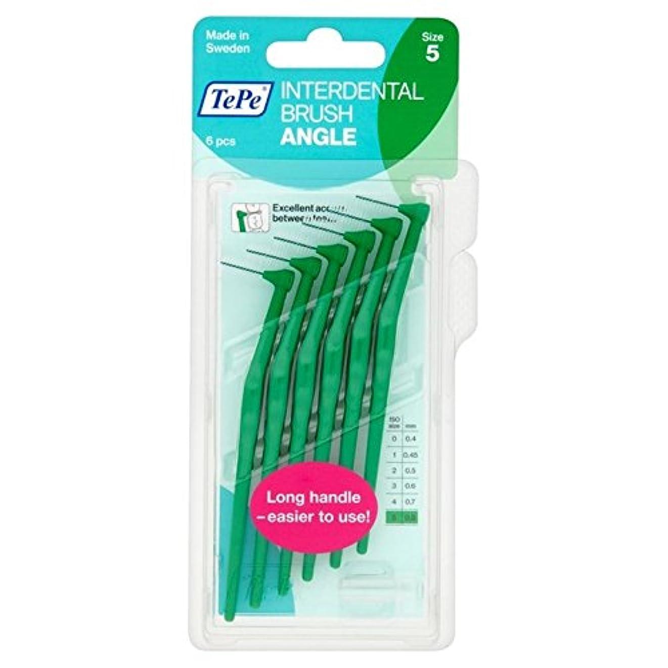 ホステス勧める宿題TePe Angle Green 0.8mm 6 per pack - パックあたり6 0.8ミリメートル緑テペ角度 [並行輸入品]