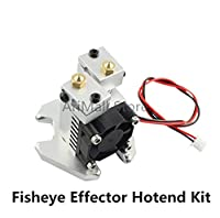Mustwell 3D printer parts V6 remote Extruder fisheye effector dual head hotend with Fan Kit 1.75/0.4