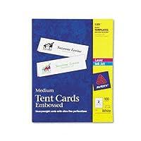 Avery ®テントカードカード、テント、2.5X 8.5,100/ BX (パックof5)