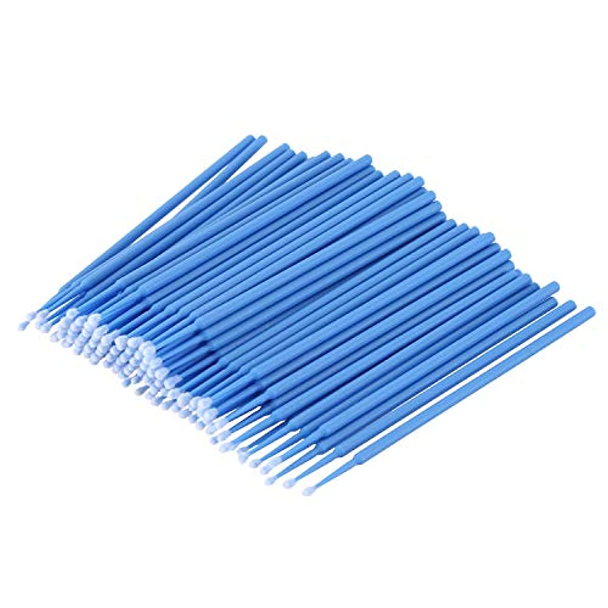 接続詞修理工格差TOOGOO 100個 歯科用マイクロブラシ 使い捨て材料 歯用アプリケーター ミディアムファイン(ダークブルー)