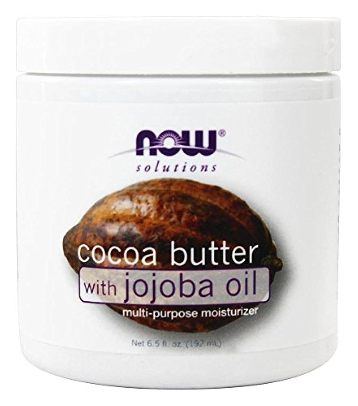 献身ワンダー頑丈NOW Foods - Jojobaオイルの多目的Moisturizerが付いているココアバター - 6.5ポンド [並行輸入品]