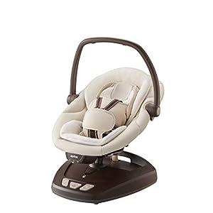 Aprica (アップリカ) 電動スウィング & ポータブル Smart Swing DX スマートスウィング ウッディブラウン BR ★ホールディングパッドα付 + Easy Wash タイプ★ 91129