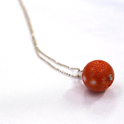 桃色珊瑚 す珠 ペンダント