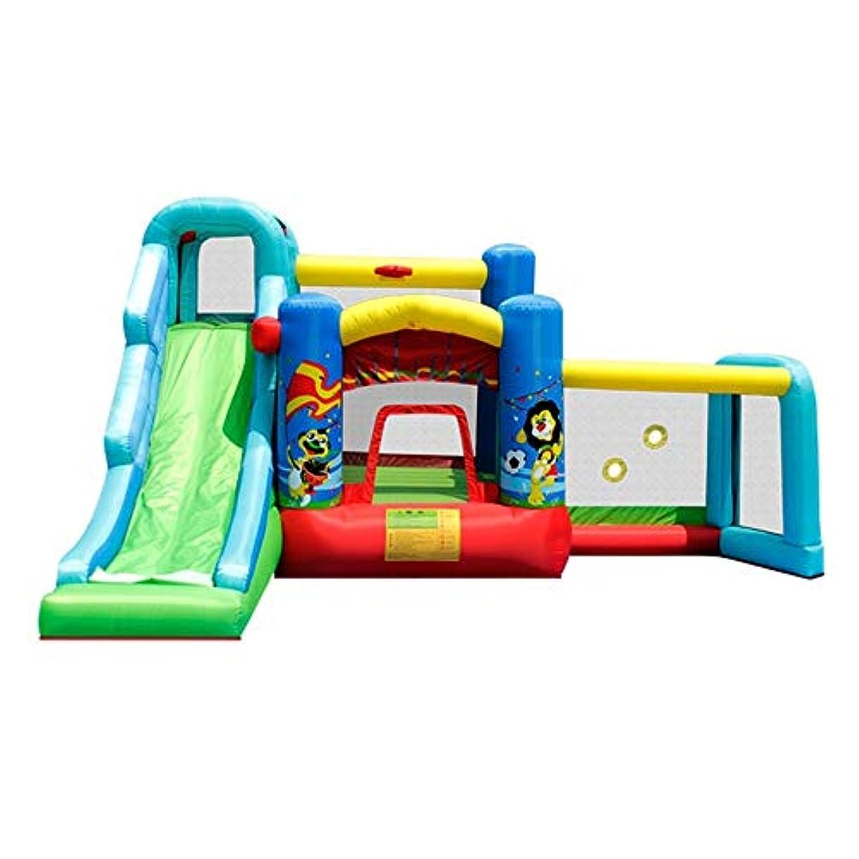 最も遠い些細な磨かれた弾力がある城 子供のためのスライドブロアーでインフレータブルBouncy Castleの屋内屋外のバウンスハウストランポリン屋内Playゲーム 子供の遊び場 (色 : Inflatable Castle, サイズ : 450x360x245cm)