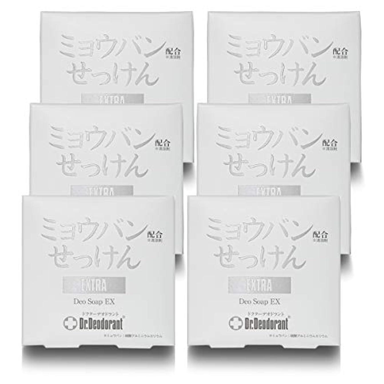 効能バックグラウンドスピーチドクターデオドラント 薬用ミョウバンせっけんEX (6個セット)