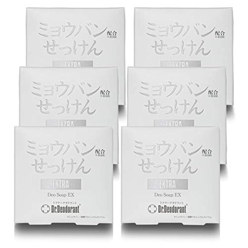 上優先インクドクターデオドラント 薬用ミョウバンせっけんEX (6個セット)