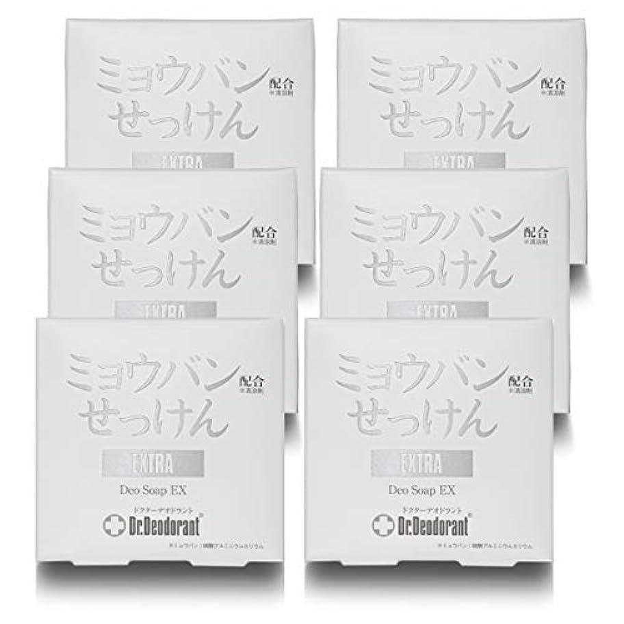 シアー平和的銀行ドクターデオドラント 薬用ミョウバンせっけんEX (6個セット)