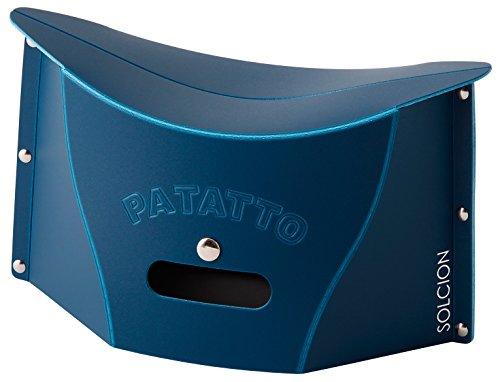 SOLCION 折りたたみ椅子 PATATTO mini (パタット ミニ) 高さ15cm ネイビー PM003